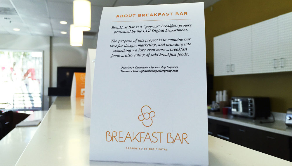 Breakfast Bar Thomas Phan - Bar table tents