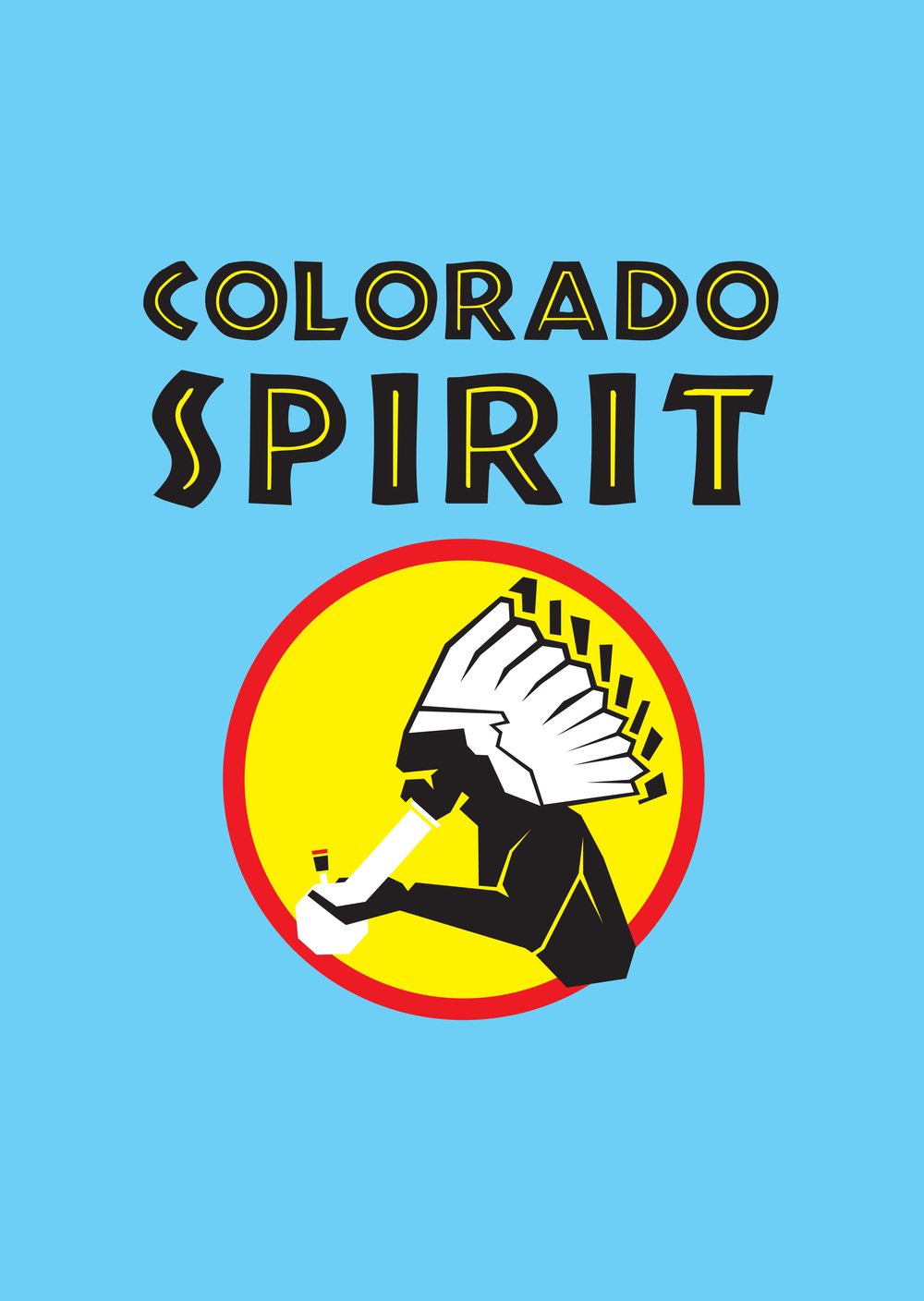 The illustration for the Colorado Spirit shirt, created and screen printed by freelance graphic designer, Adam Jeffers.