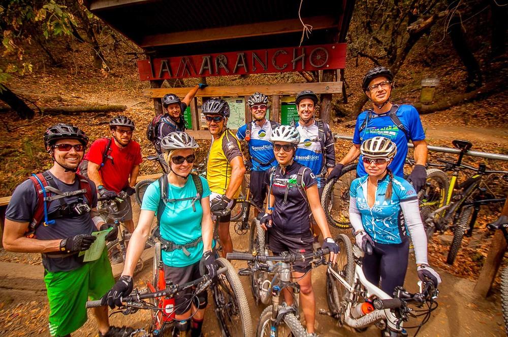 Best Mountain Biking trails San Francisco Marin Tamarancho Sign