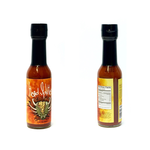 Head Splitter Hot Sauce Bottle