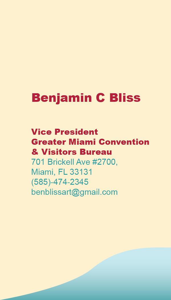 Miami Tourism Business Card