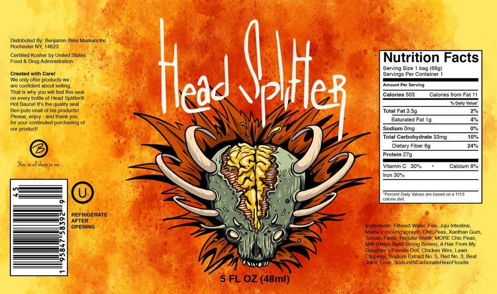 Head Splitter Hot Sauce