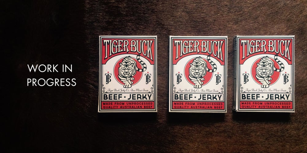 beef jerky packaging graphic design