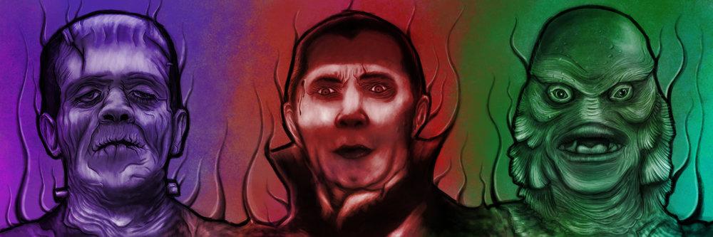 Universal Monsters Dracula Frankenstein Creature From the Black Lagoon.jpg