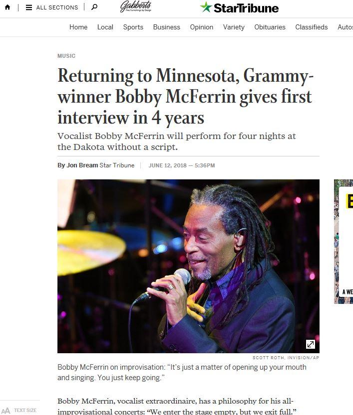 Bobby McFerrin in Minnesota Star Tribuen.JPG