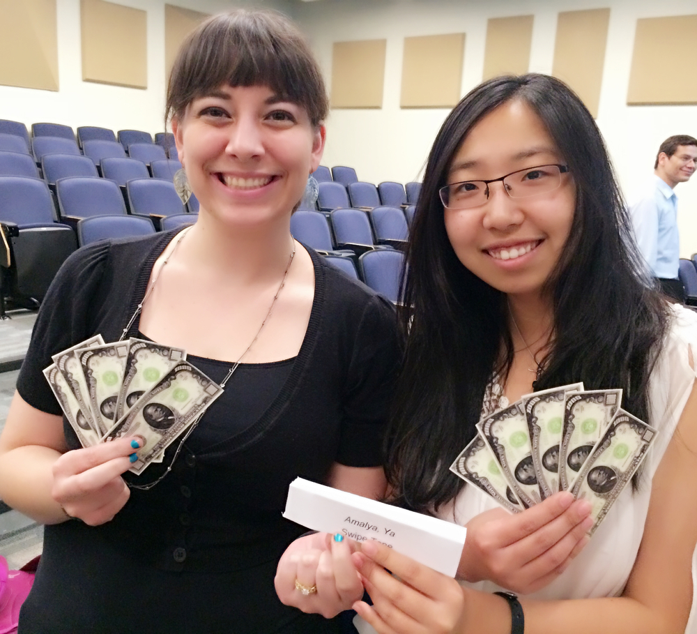 Amalya and I won the prize money  during the final pitch.