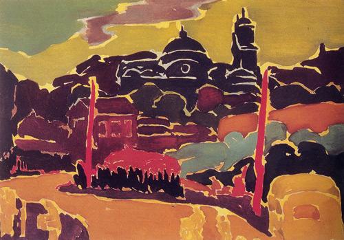 Taksim Meydanı, 1947, Mukavva üzerine yağlıboya, 70x100 cm.