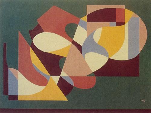 Soyut Kompozisyon, 1979, Tuval üzerine yağlıboya, 100x100 cm.