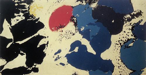 Saf Soyutlama, 1963, Tuval üzerine yağlıboya, 139x277 cm,          İstanbul Resim-Heykel Müzesi.