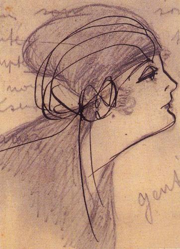Dame de Sion'da sınıf arkadaşlarının hatıra defterlerini, bu türden desenlerle süslerdi.