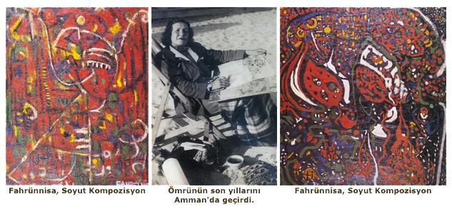 NOT: Ressamımızın nüfus kütüğündeki kayıtlı adı Türkçede Fahrünnisa olarak okunur, Araplar, Fahr El Nissa olarak okurlar. Makalede Türkçe okunuşu ve söylenişi tercih edilmiştir.