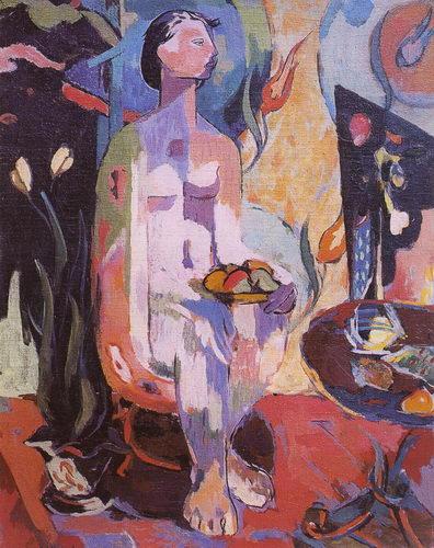 """""""Çıplak"""", 1949, tuval üzerine yağlıboya, 92x74 cm."""