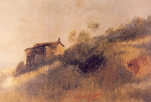 Köy Evi, 1911. 33x24 cm, tuval üzerine yağlıboya (Özel Koleksiyon)