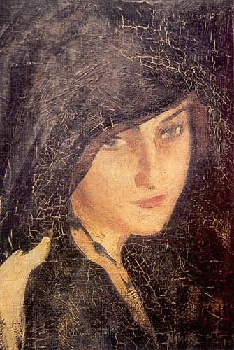 Mediha Hanım, 1920, 56x62 üzerine yağlıboya