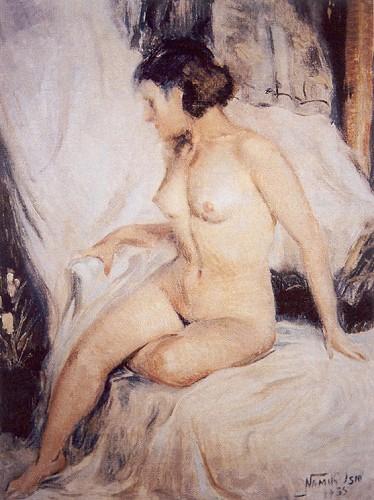 Çıplak, 1935, 50x60 cm, tual üzerine yağlıboya (Özel Koleksiyon)