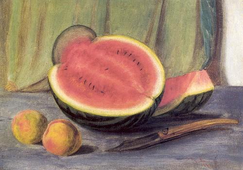 Natürmort, tuval üzerine yağlı boya, 32.5.x46 cm (Özel koleksiyon).