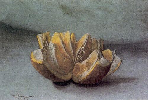 Portakal, tuval üzerine yağlı boya, 33x46 cm (Taviloğlu Koleksiyonu).