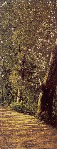 Manzara, tuval üzerine yağlı boya, 78x35.5 cm (İstanbul Resim ve Heykel Müzesi)
