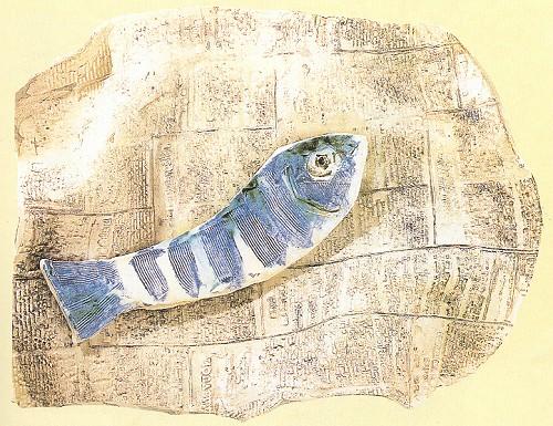 Gazete üerinde balık