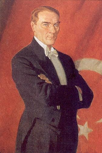Prof. Arthur Kampf tarafından yapılan Atatürk portresi.