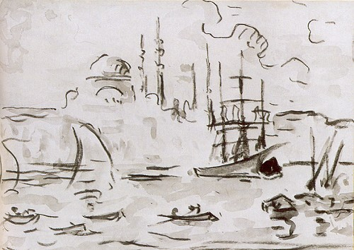 1905 yılında İstanbul'a gelerek cami resimleri yapan Fransız Paul Signac Nazmi Ziya'yı etkileyen ilk batılı ressamdı (Louvre Müzesi).