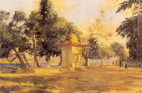 Küçüksu'dan 42x62 cm tuval üzerine yağlıboya (İstanbul Resim ve Heykel Müzesi).
