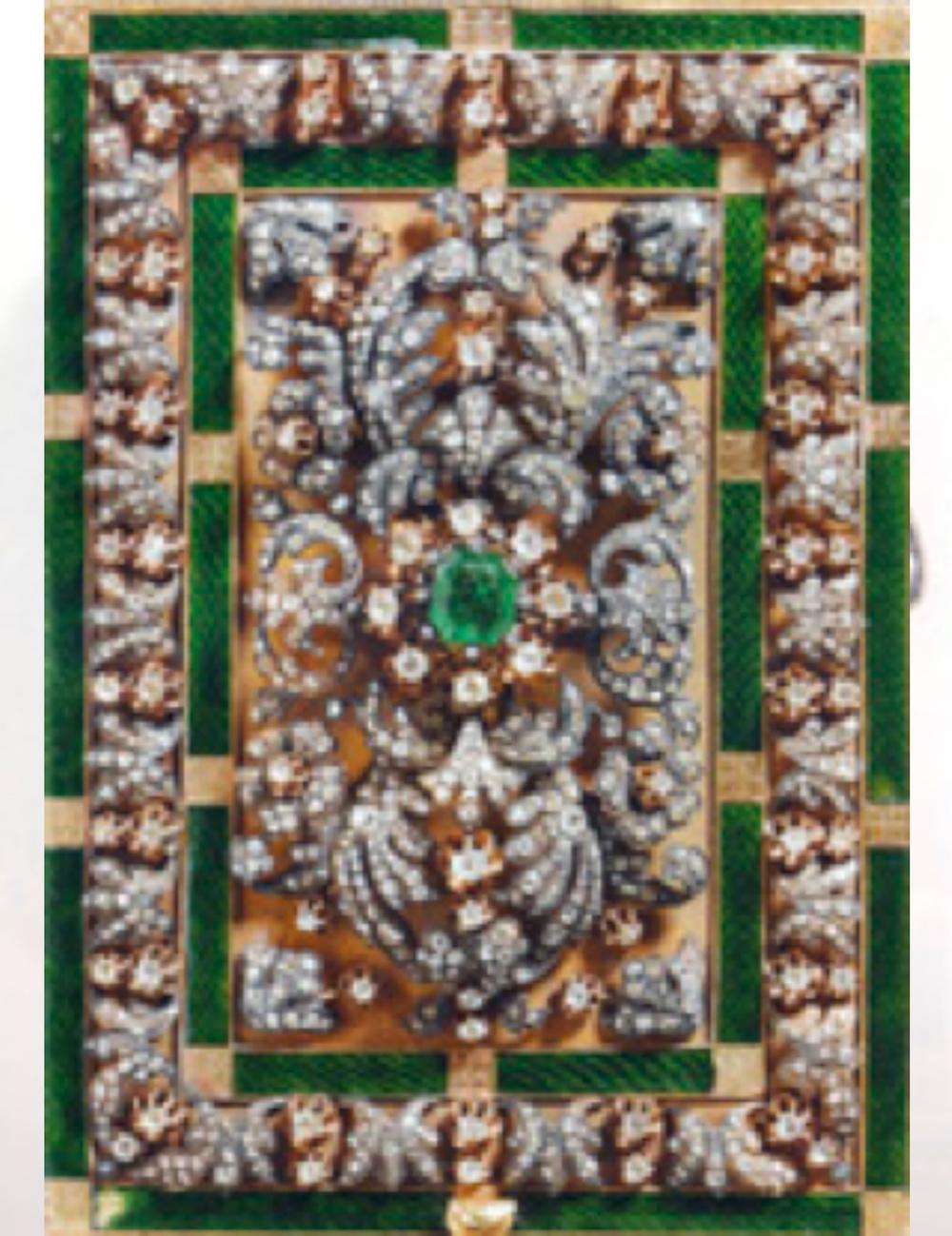Kuran Mahfazası, Osmanlı, erken 19. yüzyıl, altın, elmas, zümrüt: 18x12.5x5 cm.( T.S.M 2/3369)