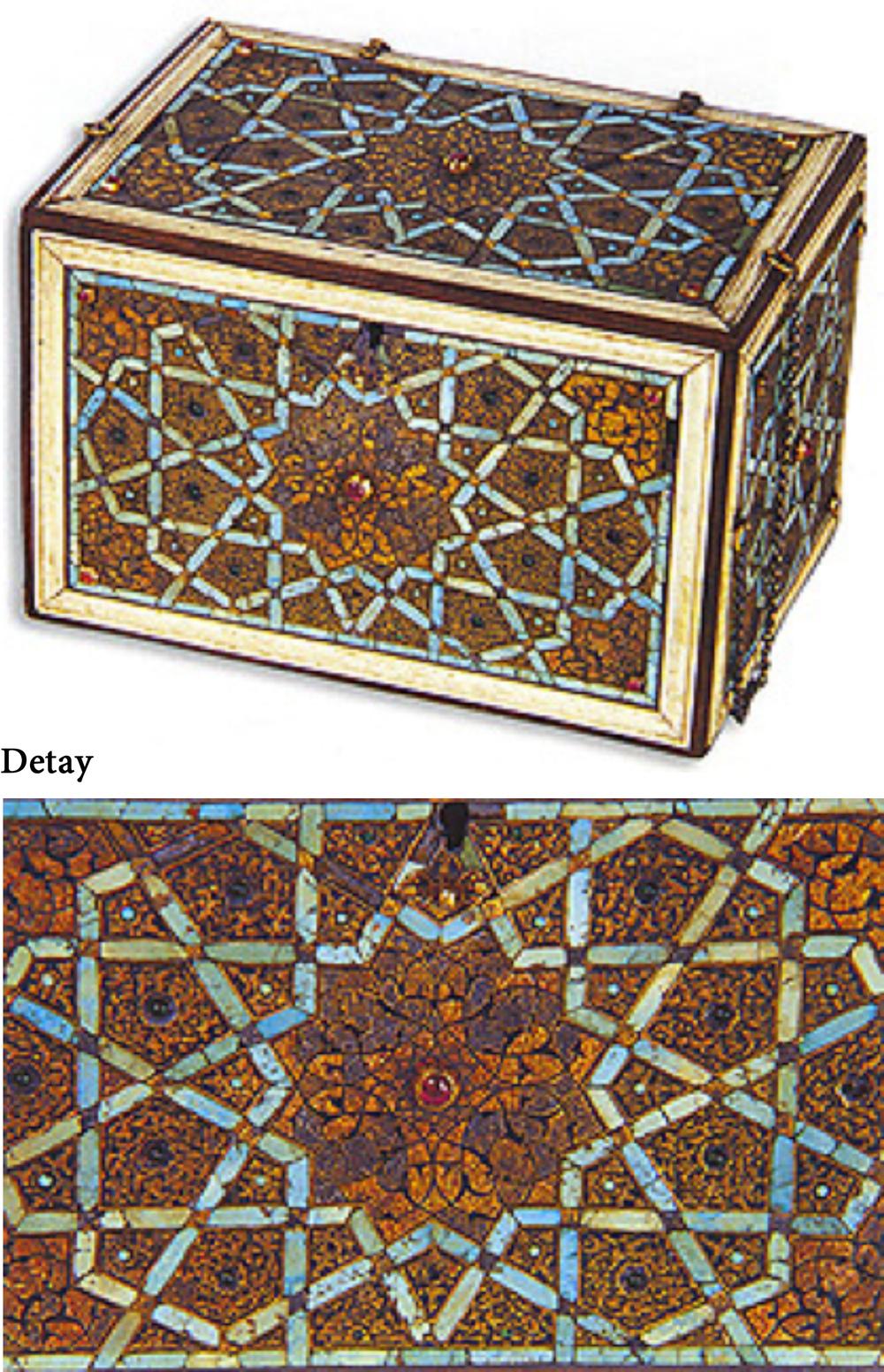 Firuzeli Ahşap Kutu, Osmanlı, 16. yüzyılın ilk yarısı, 16.5x11x11 cm, Env. no. T.S.M. 2/1850