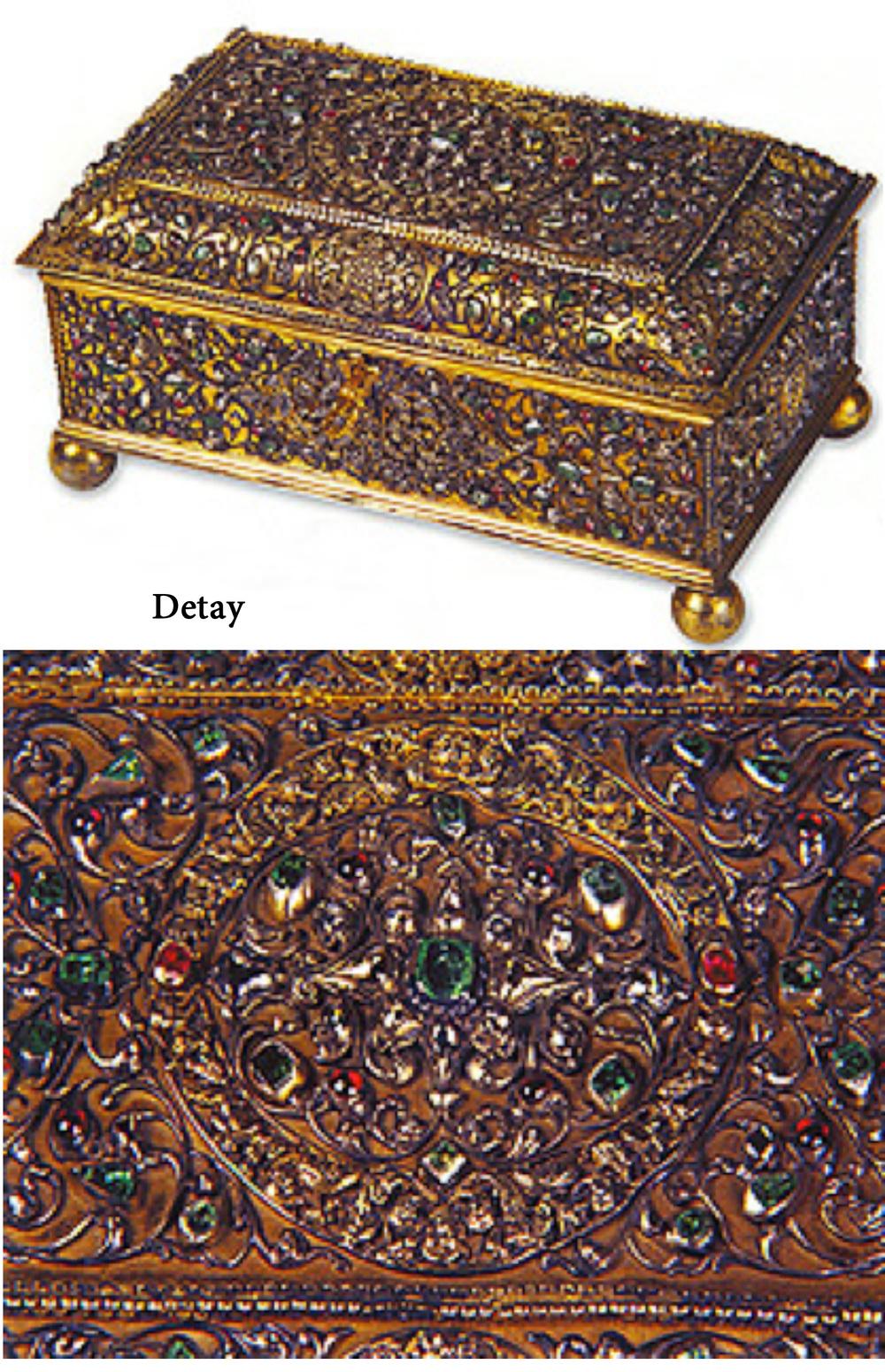 Gümüş Mücevher Çekmecesi, Avrupa-Osmanlı(?) 18. yüzyıl, 21.5x12.5x11.5 cm, Env. no. T.S.M. 2/2109.