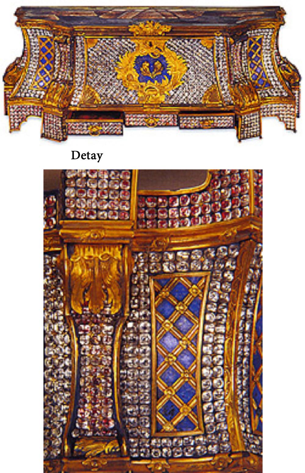Pirinç-Altın Mücevher Çekmecesi, 32x20x16 cm, Env. no. T.S.M. 2/789.