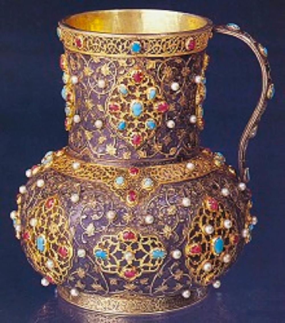6- 2/2871-Tutyalı maşrapa, Osmanlı, 16.yüzyılın ilkyarısı