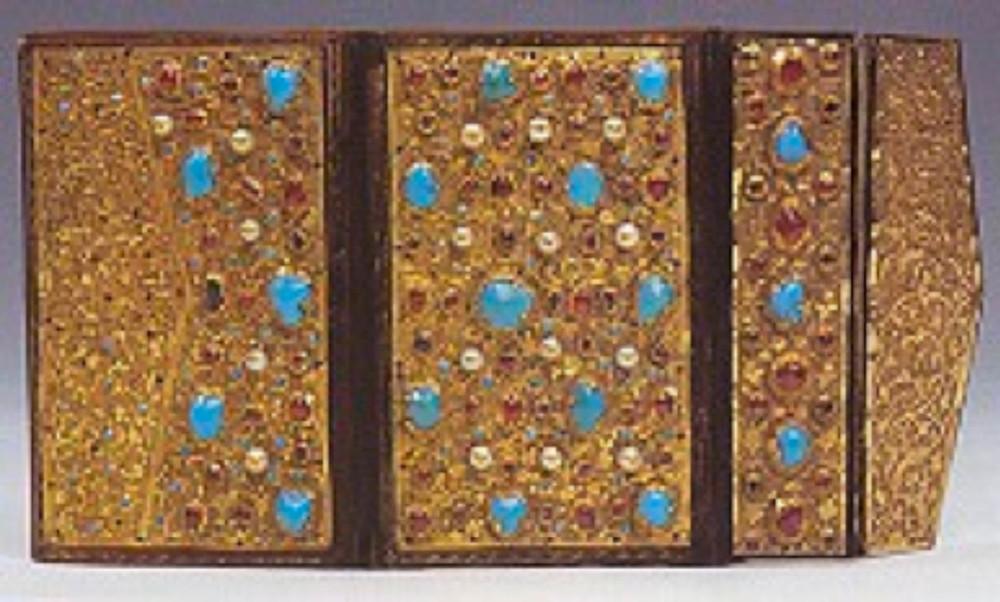 8- Resim 2/2136-Kur'an kabı, İran etkili Osmanlı, 16.yüzyıl, 12x7.5 cm