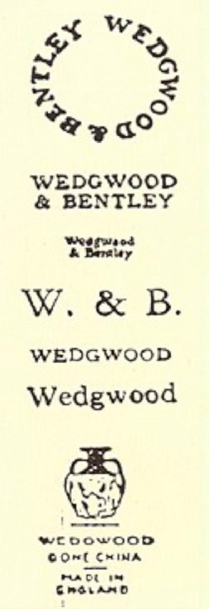 """Caughley: Salopian'ı vurgulayan harfler, Caughley'i simgeleyen """"C"""" harfi ve yarım ay motifleri, genellikle sıraltı mavi renkte kullanıldılar."""
