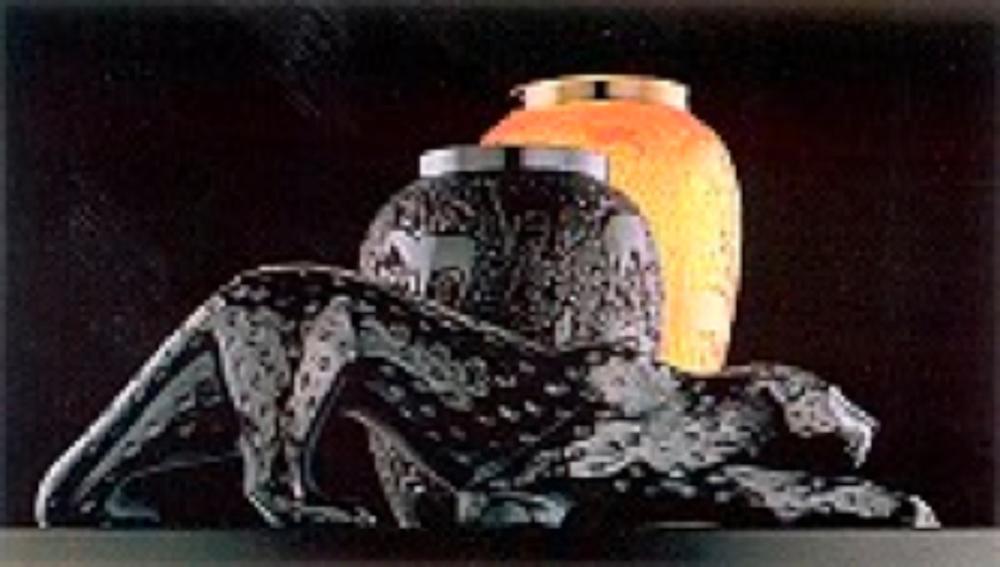 Zeila panteri ( Marie-Claude Lalique 1981) ve hayvan figürlü vazolar ( Marie-Claude lalique)