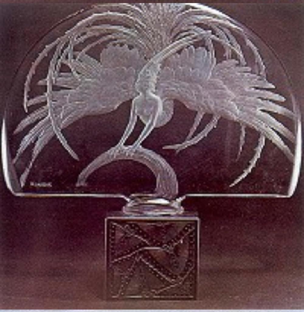 """""""L'Oiseau de Feu"""" Bronz kaideli abajur (1925-1930)"""