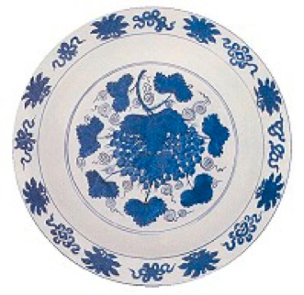 Mavi-Beyaz tabak. Ming Hanedanlığı-Jiajing Dönemi (1522-1566)