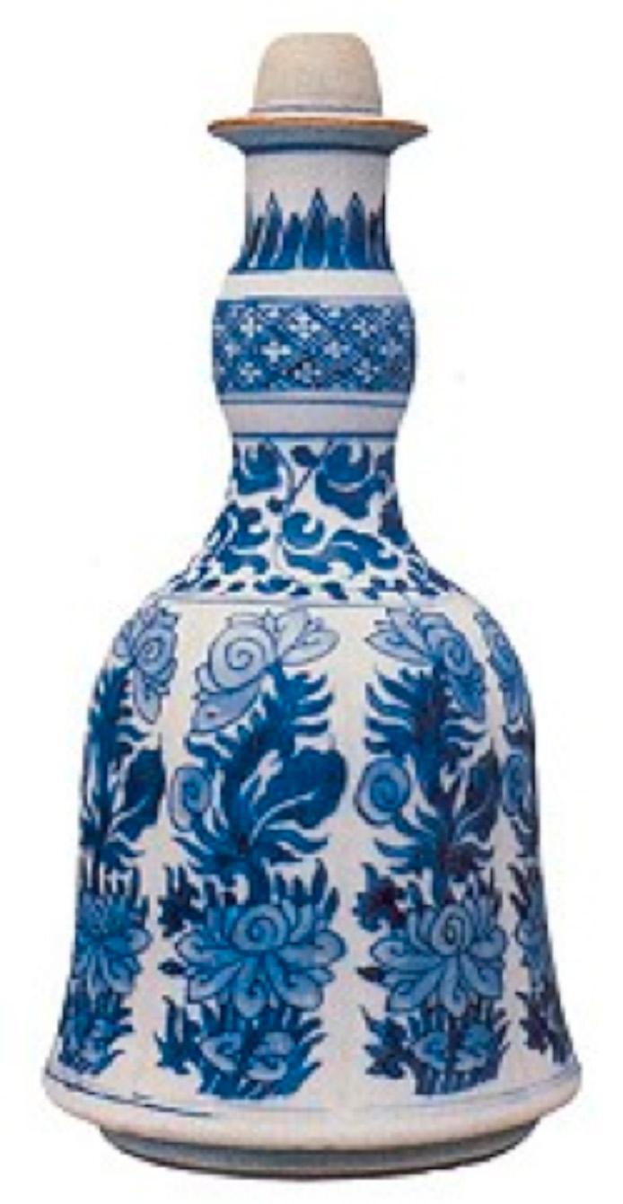 Mavi-Beyaz nargile. Qing Hanedanlığı-Kangxi Dönemi (1662-1722)