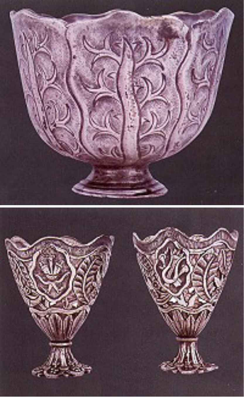 Gümüş fincan zarf örnekleri III. Selim (1789-1807) Sultan I. Abdülhamid (1774-1789) Sultan I. Abdülmecid (1839-1861)