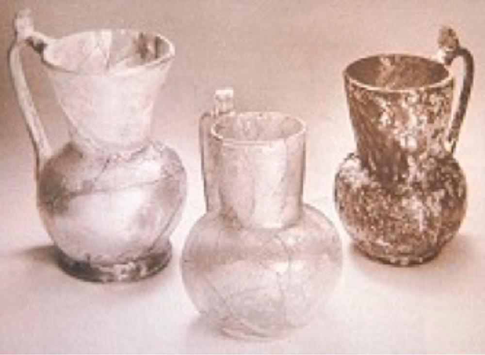 Cam kulplu bardaklar, Roma Dönemi 1. ve 2. yy.