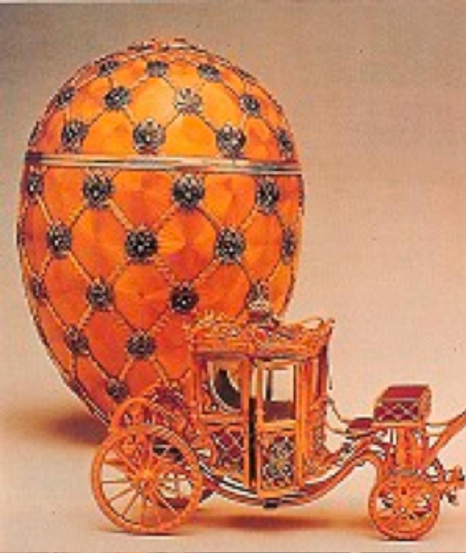 """Coronation Egg"" M.P. imzalı Çar Nicholas tarafından karısı Alexandra Feodorovna'ya 1897 tılında hediye edilmiş"