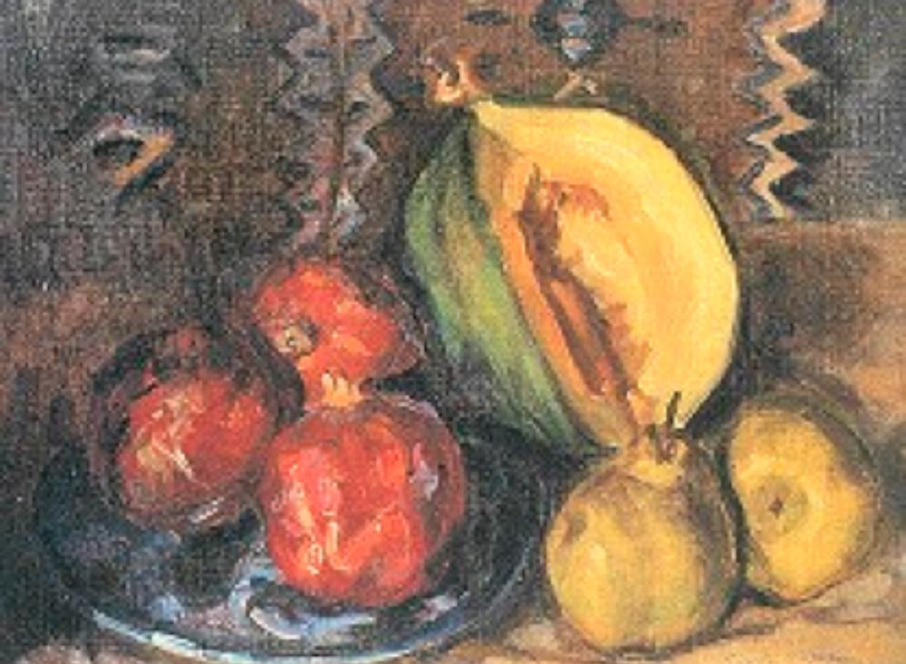 Peyzaj tuval üzerine yağlıboya, 51x68 cm (Antik A.Ş. Arşivi)