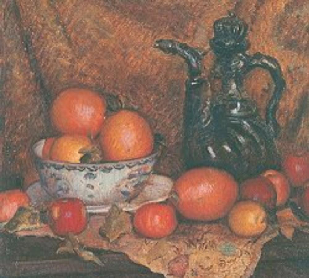 Natürmort, 54 x 65 cm. Tual üzerine yağlıboya - 1953 Antik A.Ş. Arşivi