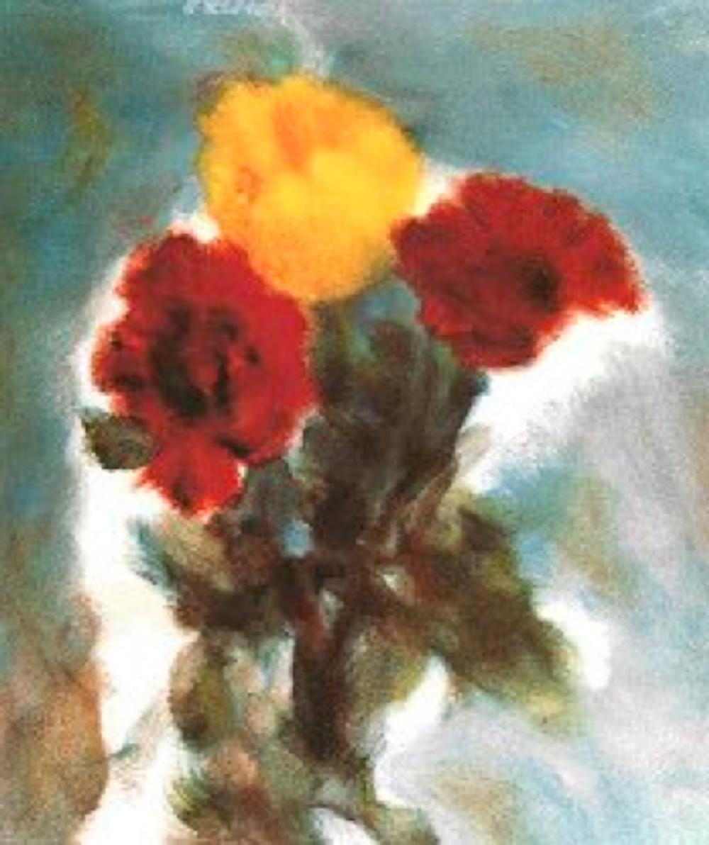 Çiçekler , 55 x 46 Tuval üzerine yağlıboya , 2000