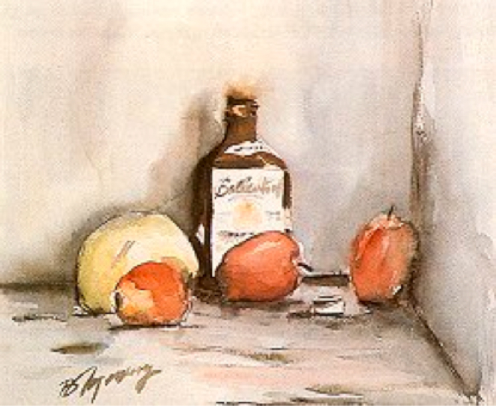 Still Life, 38 x 46 Suluboya, 1963