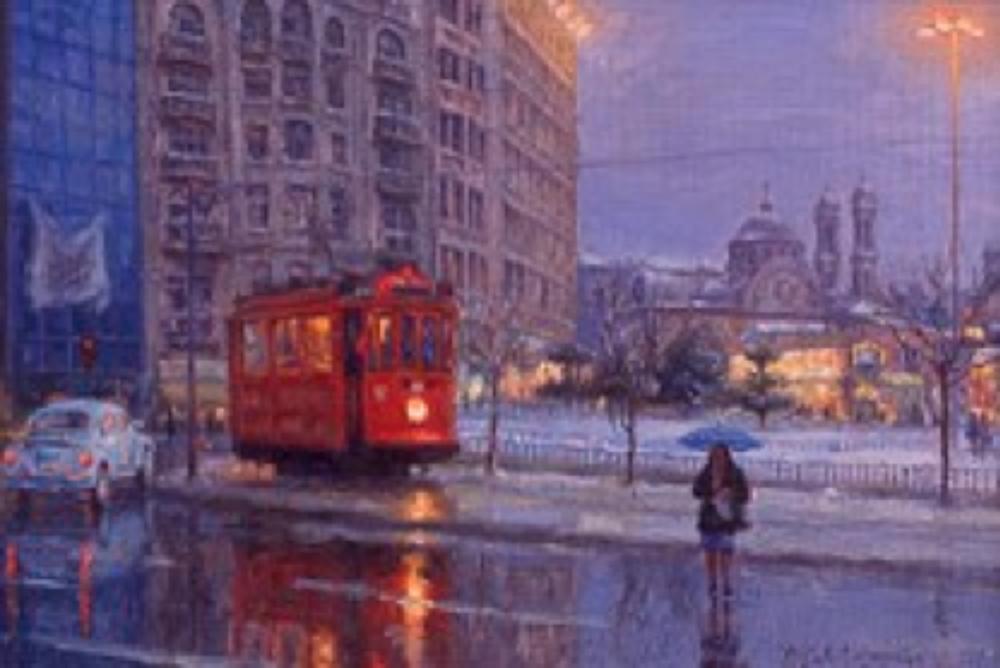 Taksim'de Bir Kış Akşamı