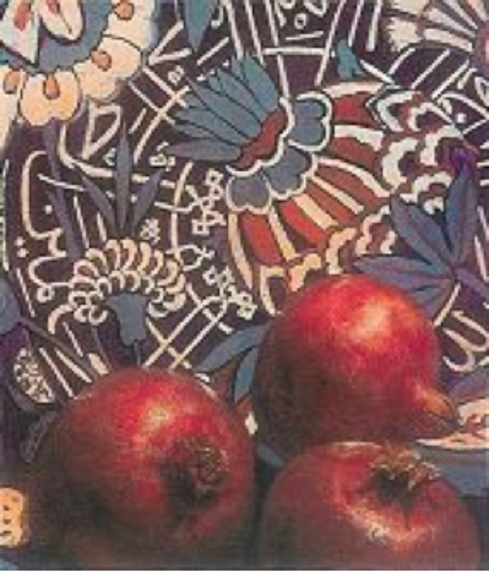"""""""Nar"""" Ateş Tuval üzerine yağlıboya 29 x 33.5 cm - 2002"""