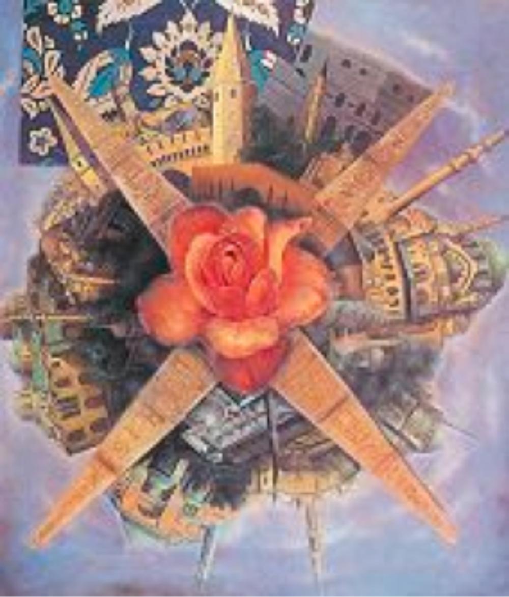 """Karşılaşma"" İstanbul Tuval üzerine yağlıboya 149 x 170 cm - 2002"