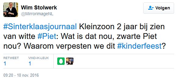 Tweet over witte Piet Het Citaat