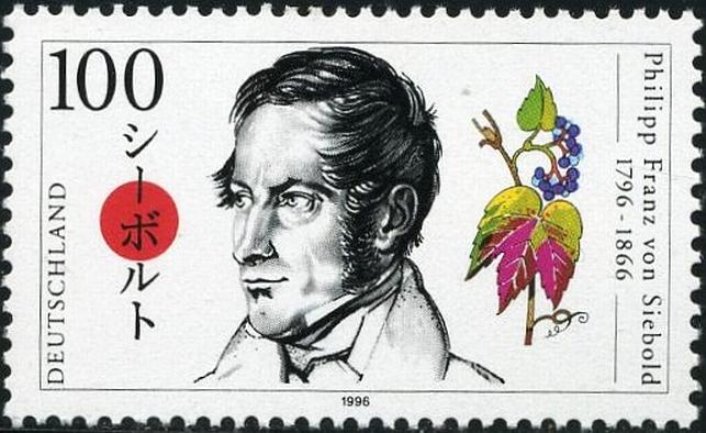 Postzegel met afbeelding Von Siebold