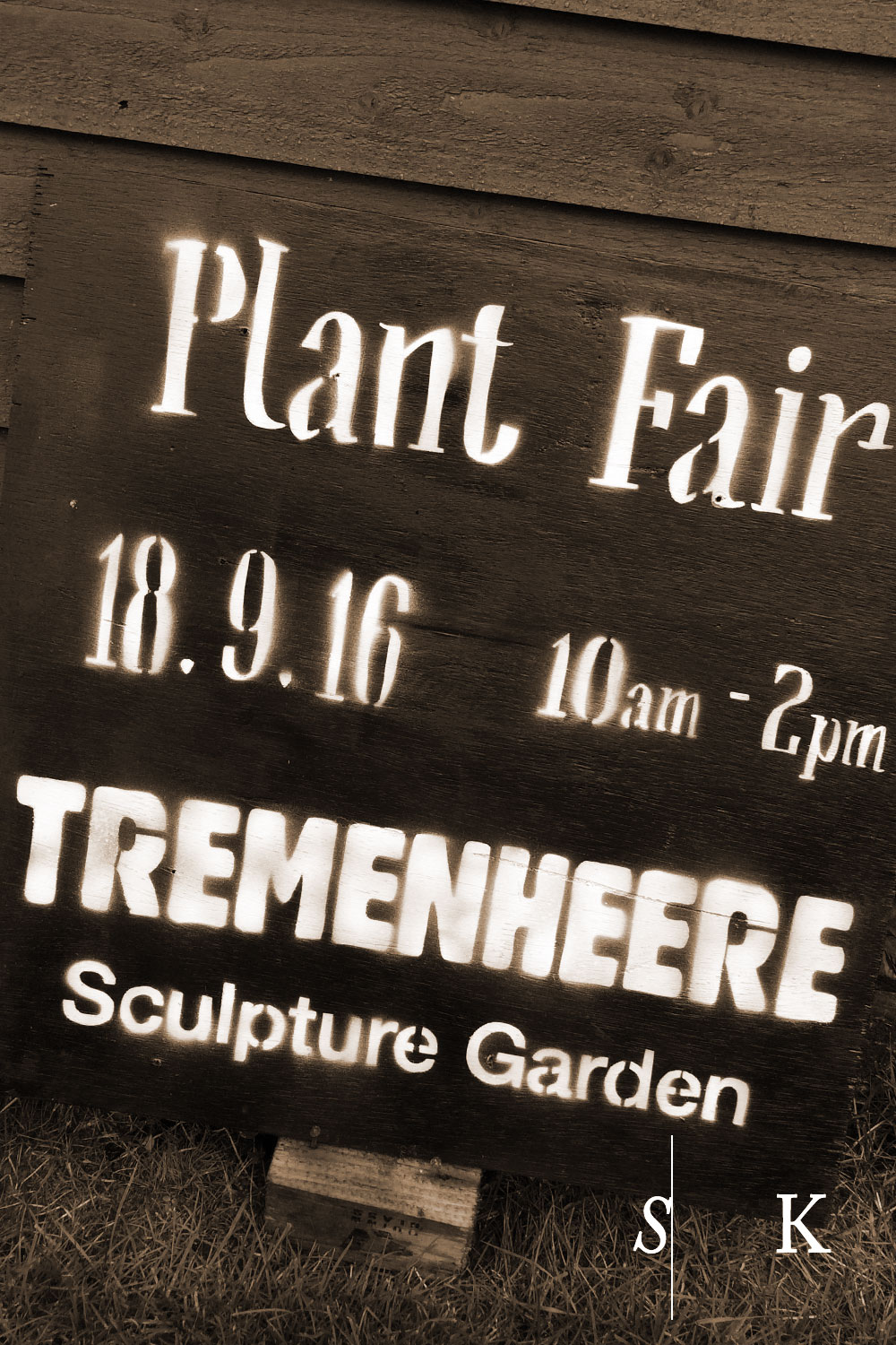 Tremenheere Plant Fair 2016 Sign in Cornwall in September